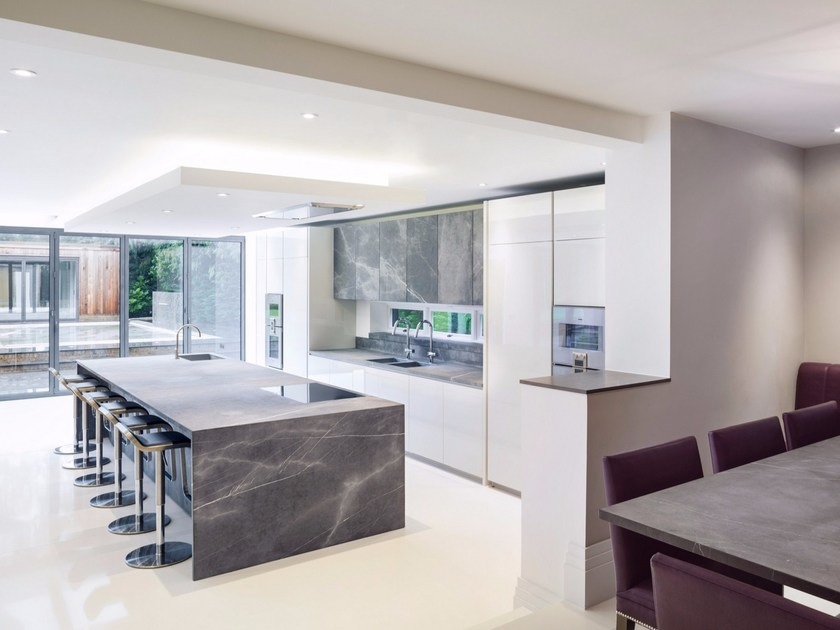 Custom natural stone kitchen with island Natural stone kitchen - TM Italia Cucine