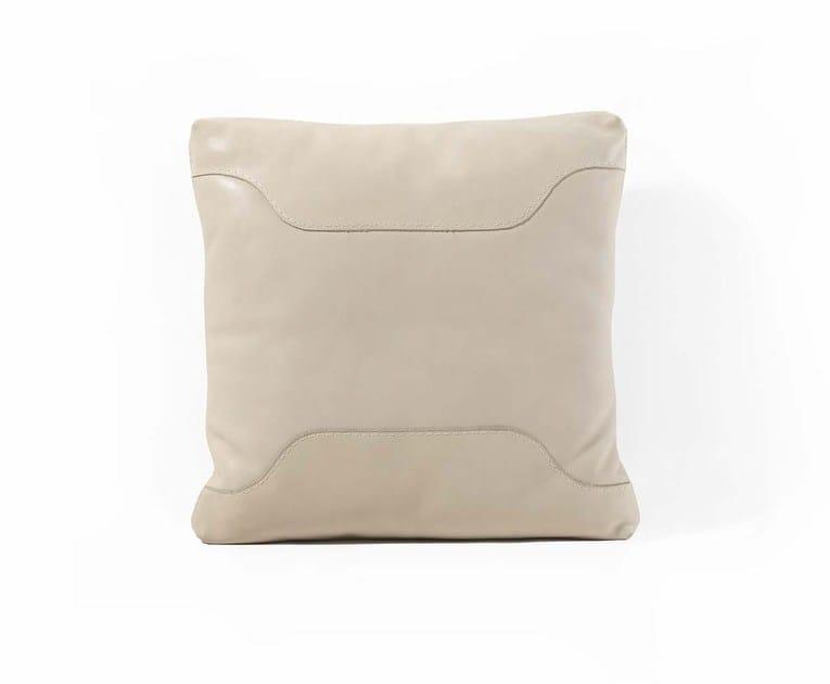 Square leather cushion 06 | Cushion - FRIGERIO POLTRONE E DIVANI