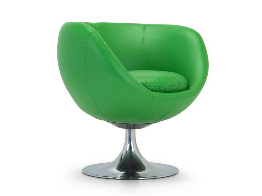 Swivel leather armchair 081   Swivel armchair by Domingo Salotti