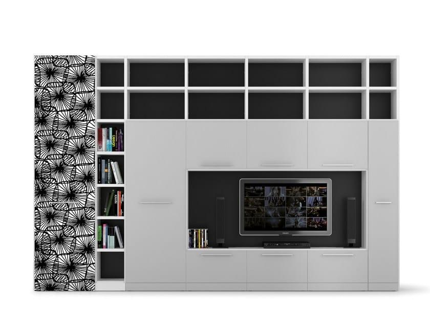 Freestanding TV wall system ALFABETO | TV wall system - De Rosso
