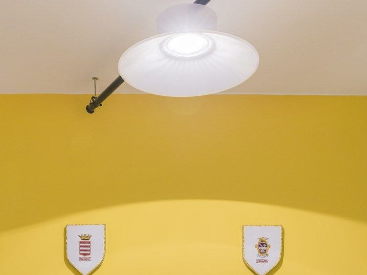 LED polycarbonate ceiling lamp KIT-22 QUID 160 by Lombardo