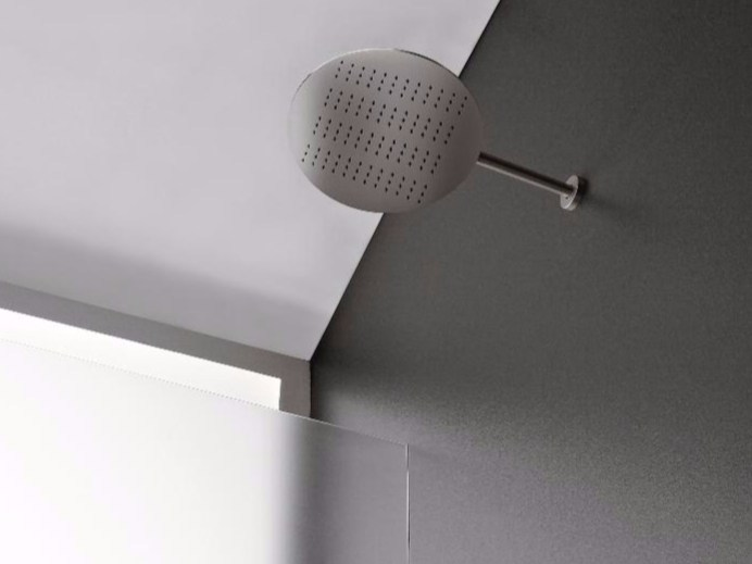 Wall-mounted rain shower with arm 100 | Rain shower - ZAZZERI