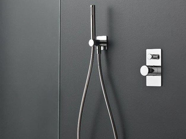 1 hole thermostatic shower mixer with hand shower 100 | 1 hole thermostatic shower mixer - ZAZZERI