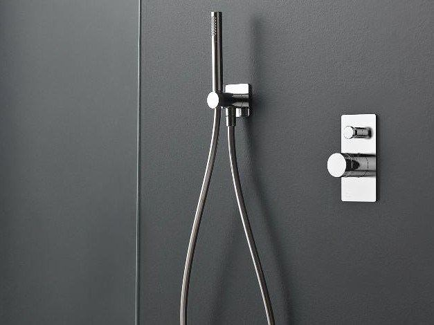 1 hole thermostatic shower mixer with hand shower 100 | 1 hole thermostatic shower mixer by ZAZZERI