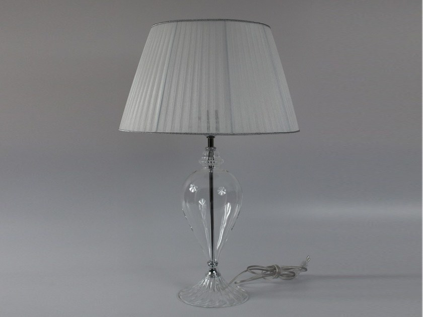 Handmade blown glass bedside lamp 1004 | Blown glass table lamp - Ipsilon PARALUMI