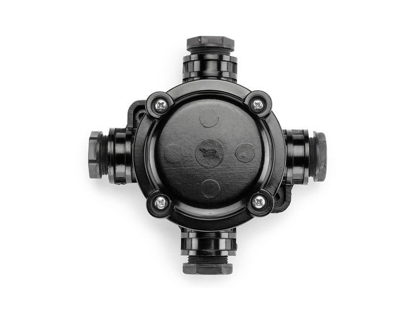 Bakelite cross junction box 100481 by THPG