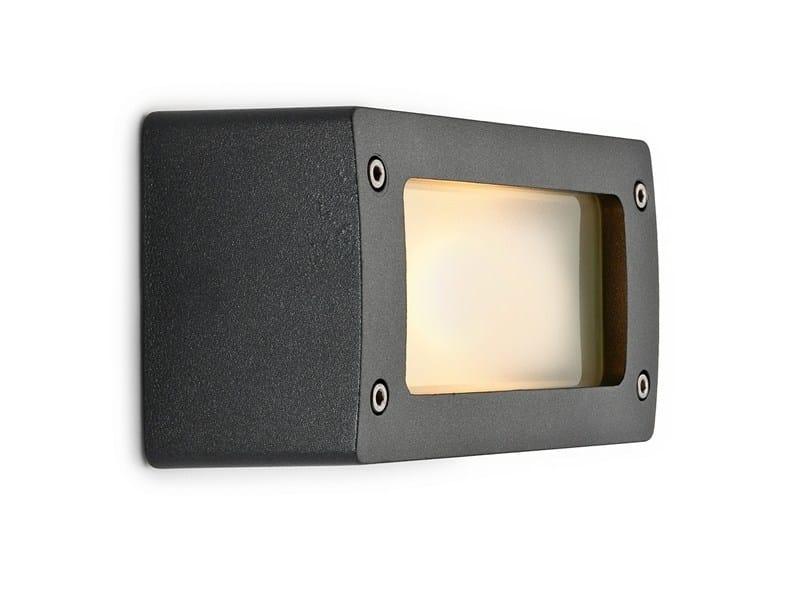 Aluminium wall lamp 100631 | Block light aluminum graphite - THPG