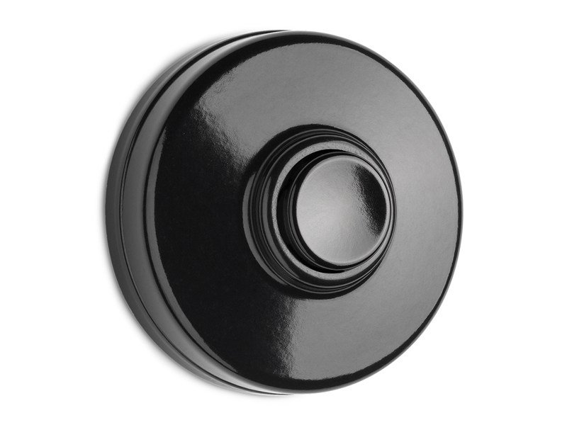 Bakelite doorbell button 100880 | Bakelite doorbell, black - THPG