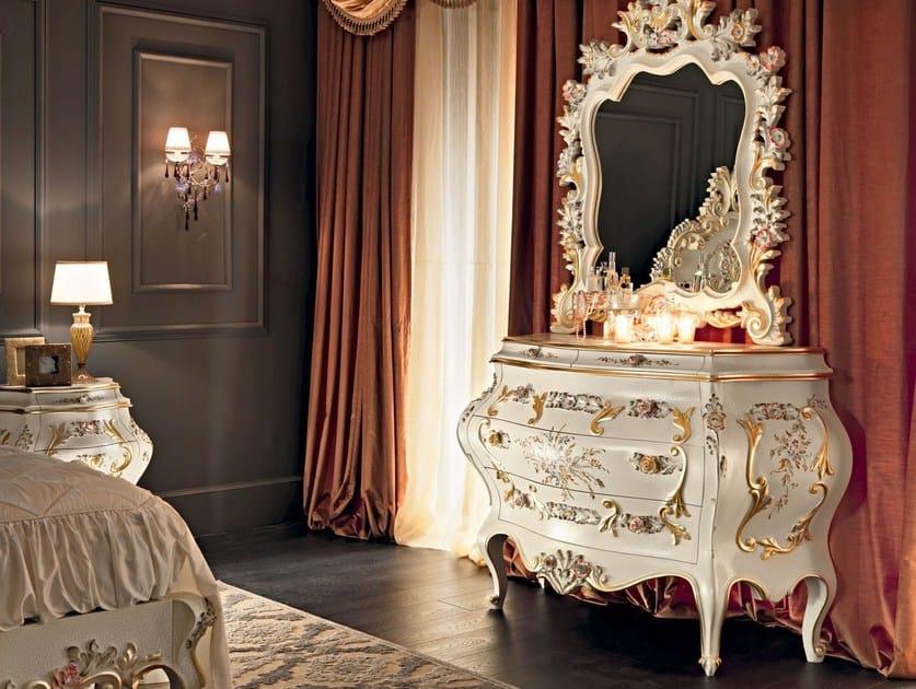 Classical hardwood dresser with craquele surface - Villa Venezia Collection - Modenese - Gastone