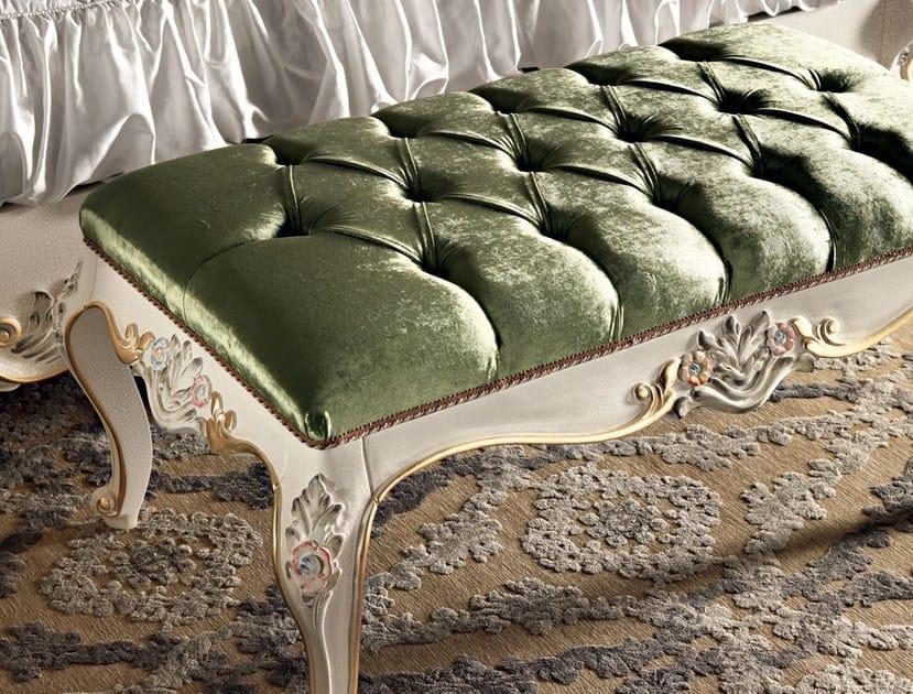 Home classic furnishings footrest footstool Swarovski button - Villa Venezia Collection - Modenese Gastone