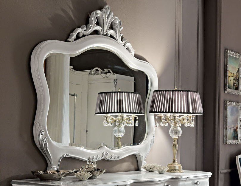 Wall-mounted framed mirror 11630 | Mirror by Modenese Gastone