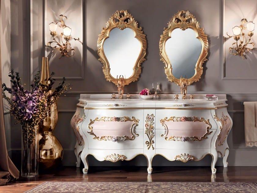 Luxury bath with two basin and gold mirror - Villa Venezia Collection - Modenese Gastone