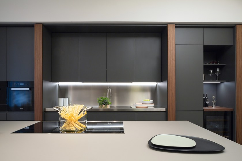 k che aus walnuss by tm italia cucine. Black Bedroom Furniture Sets. Home Design Ideas