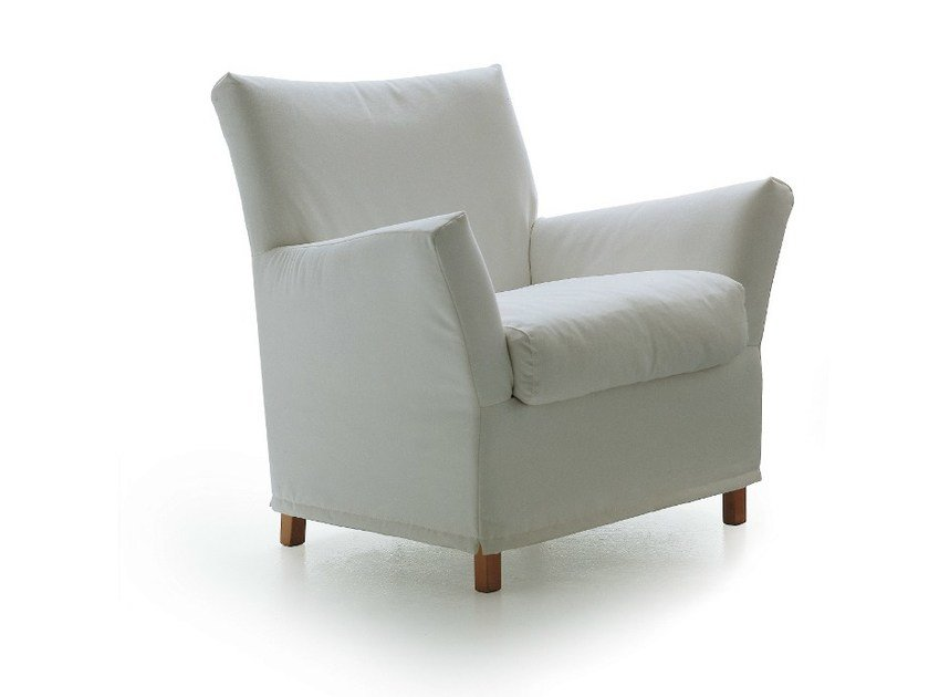 Upholstered armchair with armrests 1200 CLOTILDE - Vibieffe