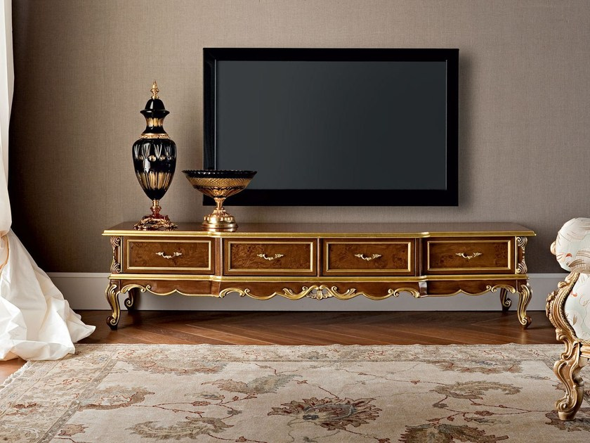 Low solid wood TV cabinet 12109 | TV cabinet by Modenese Gastone