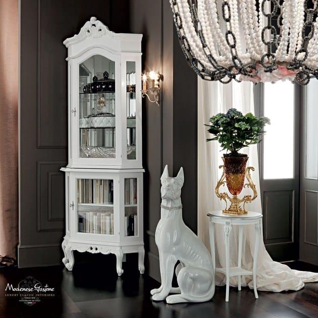 Solid wood luxury classic furnishing corner display cabinet - Casanova Collection - Modenese Gastone