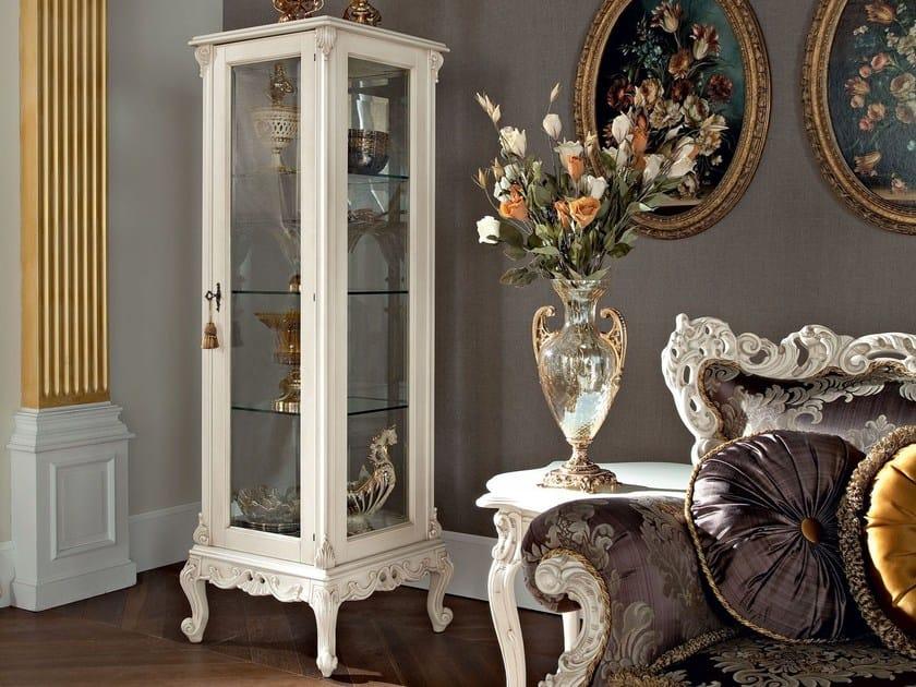 Italian hardwood one door glass cabinet - Casanova Collection - Modenese Gastone