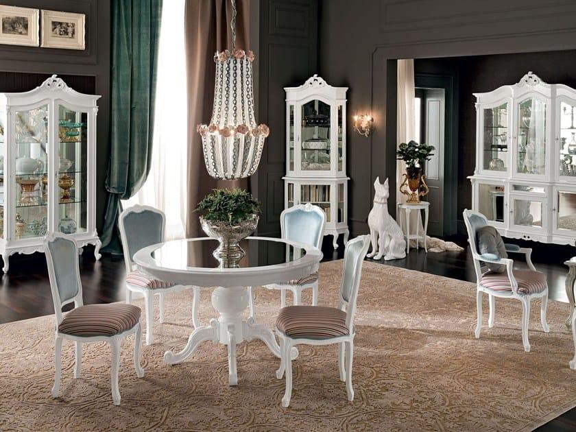 Tavolo da salotto rotondo in legno massello 12143 tavolo for Tavolo rotondo barocco