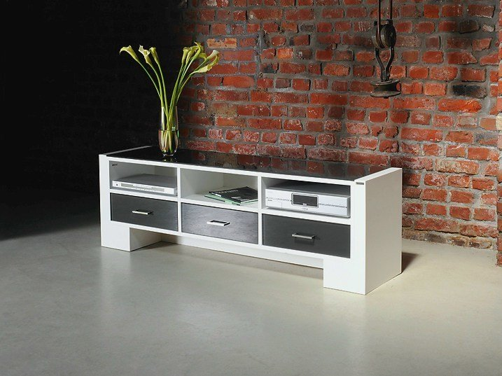 Low adjustable TV cabinet 122 | Low TV cabinet by Wissmann raumobjekte