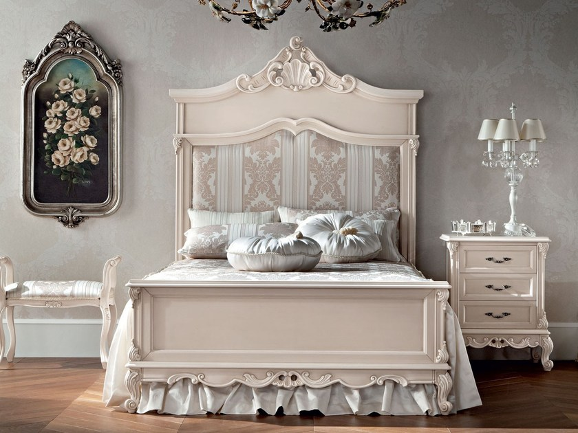 One and a half bed with classic features and upholstery - Casanova Collection - Modenese Gastone
