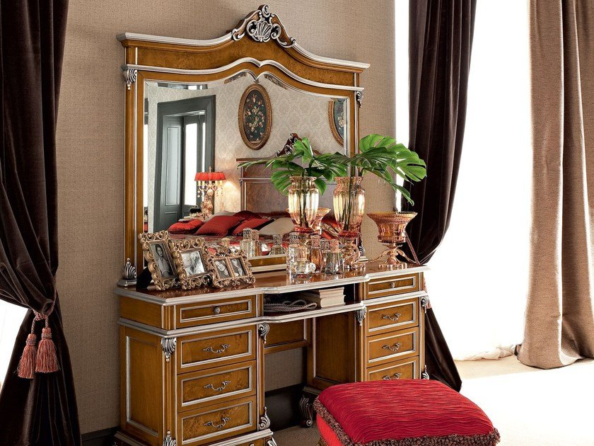Italian furniture toilette with hardwood mirror - Casanova Collection - Modenese Gastone