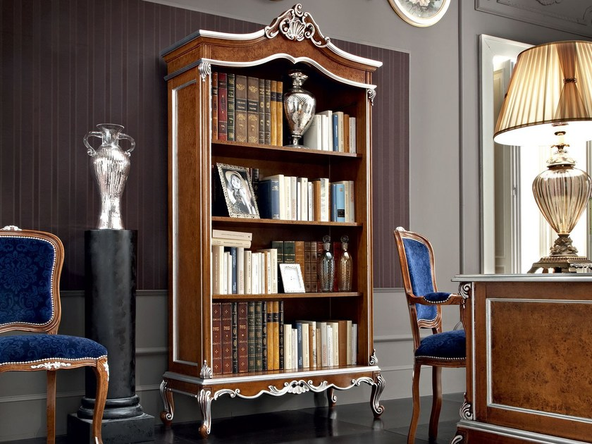 Classic bespoke project bookcase with carves - Casanova Collection - Modenese Gastone