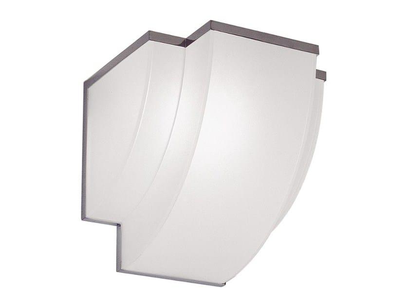 Direct light glass wall light 1231 | Wall light by Jean Perzel