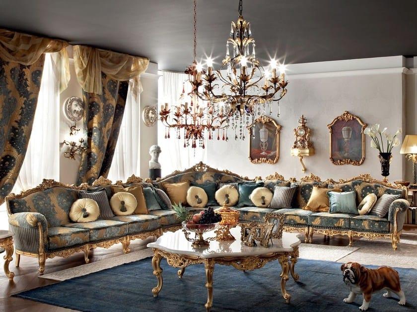 Corner upholstered fabric sofa 12401 | Corner sofa by Modenese Gastone