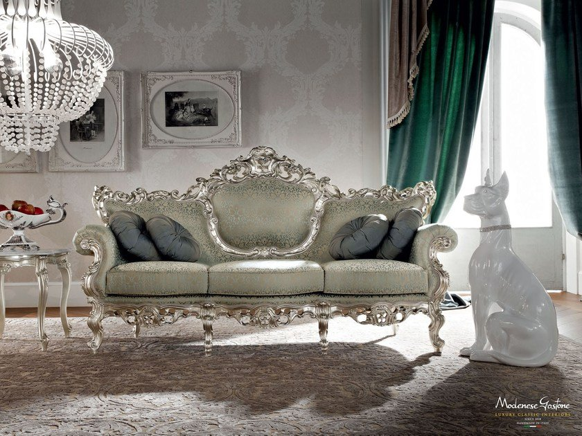Soft embroidered upholstery sofa for furnishing salon - Casanova Collection - Modenese Gastone
