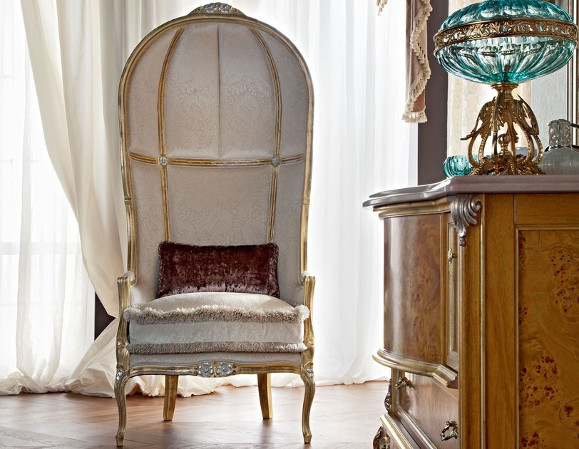 Dome armchair Versailles burlap backed chair - Casanova Collection - Modenese Gastone