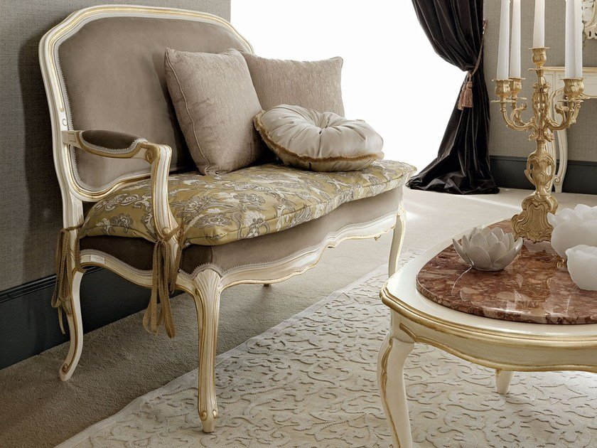 Little sofa padded and upholstered bespoke furniture - Casanova Collection - Modenese Gastone