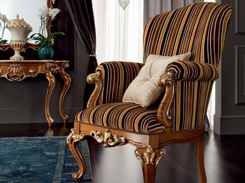 Upholstered fabric armchair with armrests 12435 | Armchair by Modenese Gastone