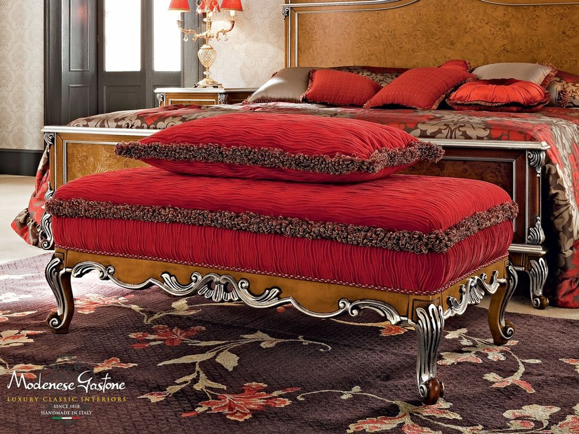 Bench for Italian classic furniture upholstered bed - Casanova Collection - Modenese Gastone