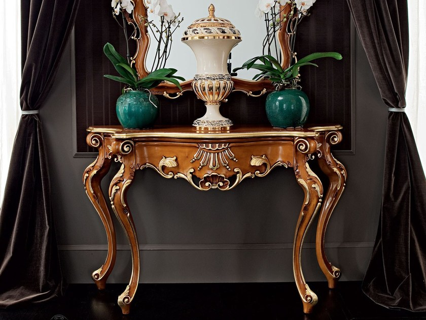 Classic furnishing solutions carved luxury console and mirror - Casanova Collection - Modenese Gastone