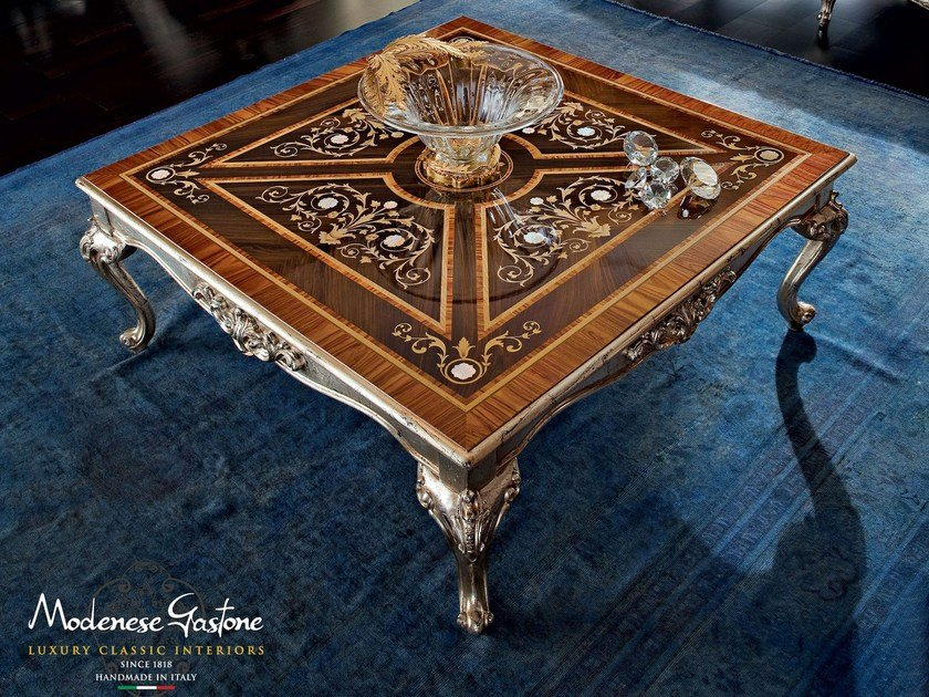 Low square solid wood coffee table 12627 | Coffee table by Modenese Gastone