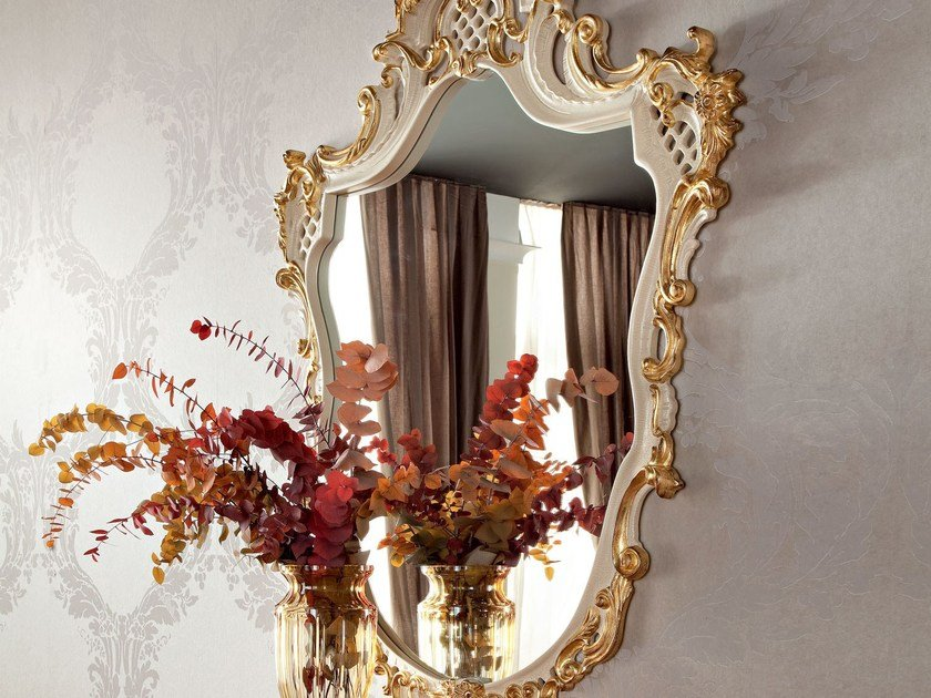 Luxury classic figured mirror - Casanova Collection - Modenese Gastone
