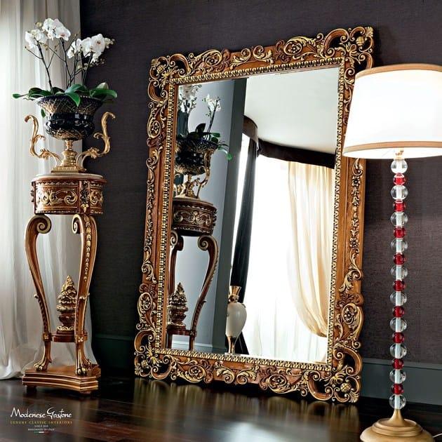 Specchio da terra a parete con cornice 12647 specchio for Specchio da terra barocco