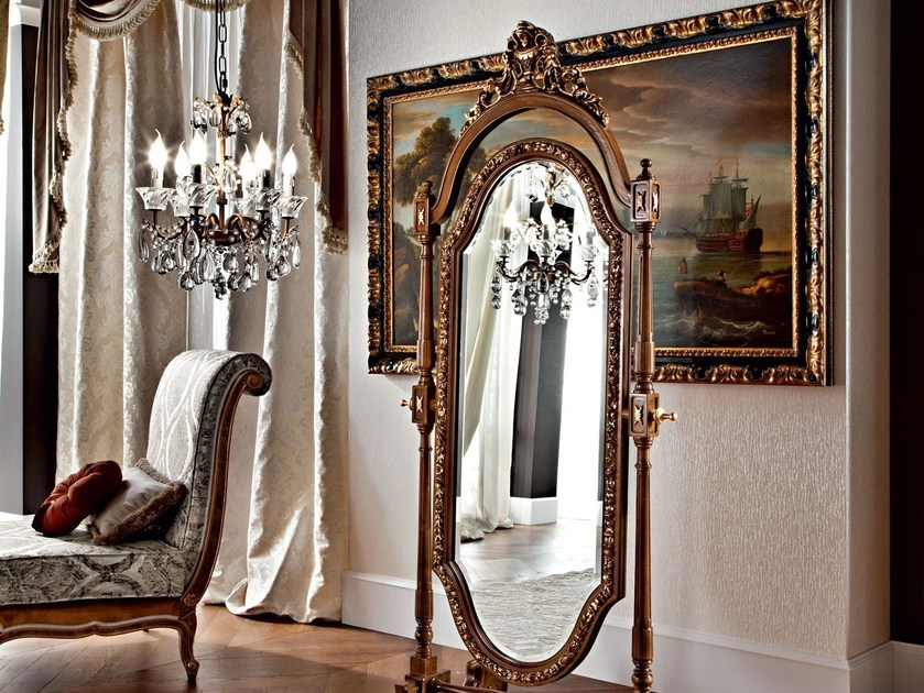 Specchio da terra oscillante con cornice 12652 specchio for Specchio da terra brico
