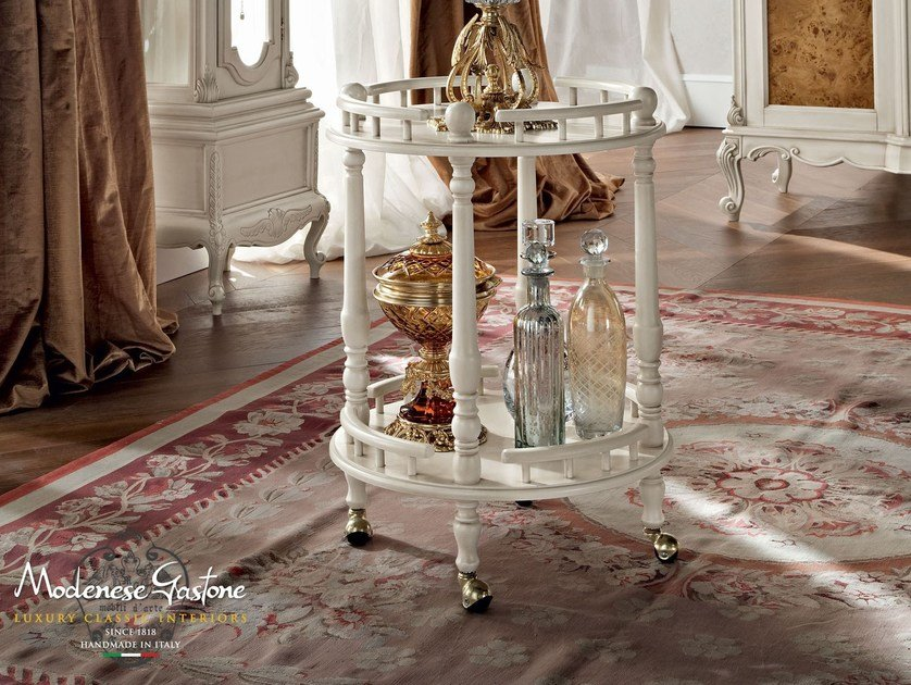 Hardwood classic food trolley high end furniture - Casanova Collection - Modenese Gastone