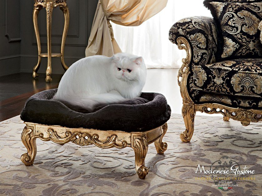 Italian classic furniture pet living cat pouffe - Casanova Collection - Modenese Gastone