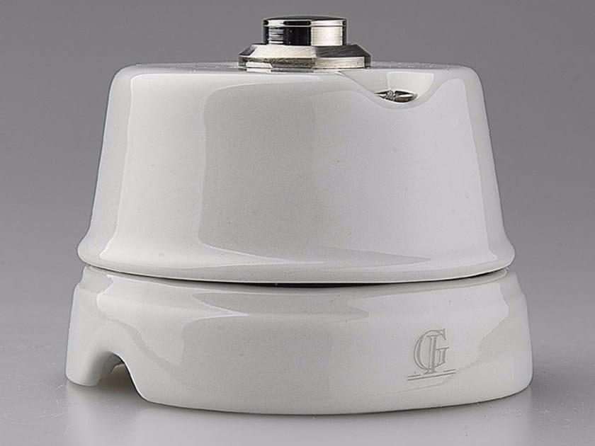 Porcelain doorbell button WHITE ITALY - 13 - GI Gambarelli