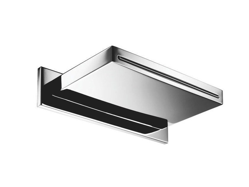 Wall-mounted stainless steel waterfall spout 130-DC | Waterfall spout - Rubinetterie Mariani