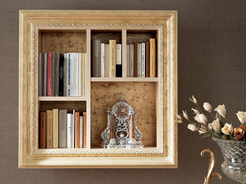 Golden bookcase with frame home furnishing - Bella Vita Collection - Modenese Gastone