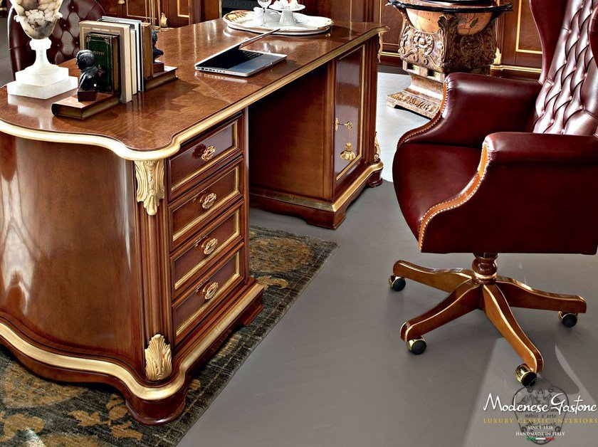 Desk and armchair Chesterfield - Bella Vita Collection - Modenese Gastone