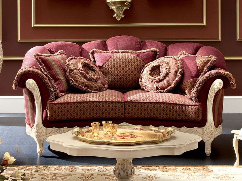 Soft embroidered fabrics and upholstery sofa of - Bella Vita Collection - Modenese Gastone