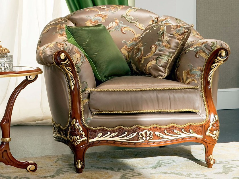 Luxury living room upholstered armchair - Bella Vita Collection - Modenese Gastone