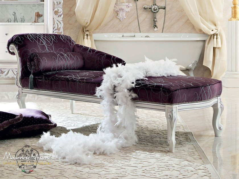 Upholstered luxury chaise lounge - Bella Vita Collection - Modenese Gastone