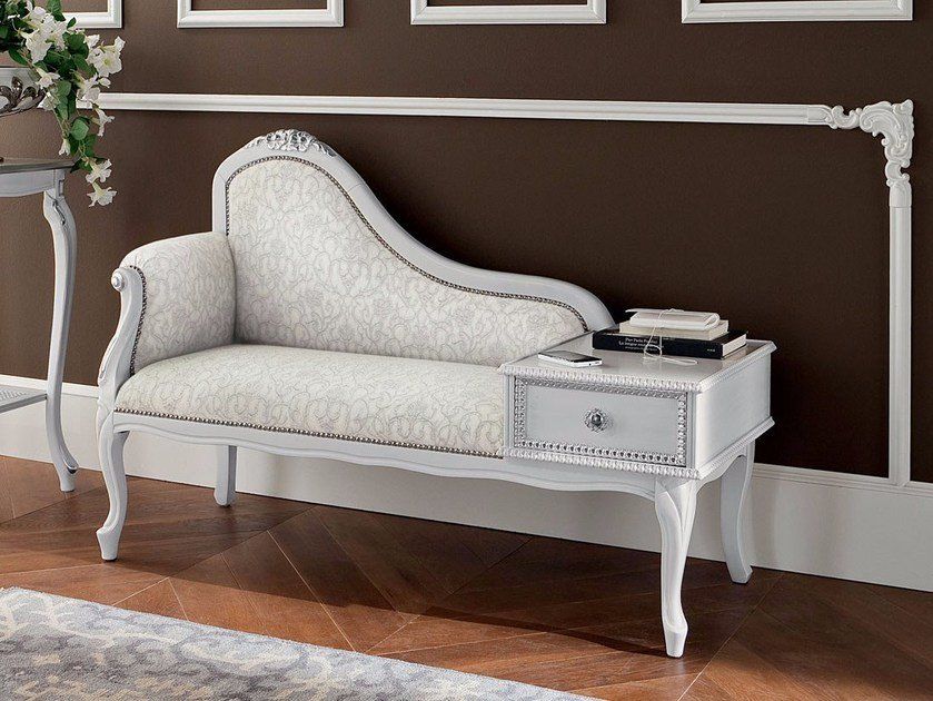 Little upholstered sofa with phone stand hardwood - Bella Vita Collection - Modenese Gastone