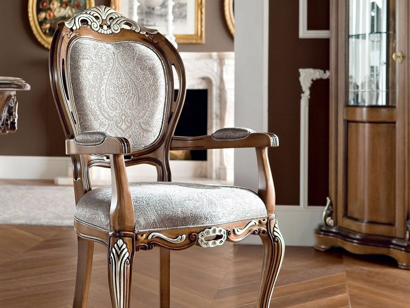 13509 sedia by modenese gastone - Sedia imbottita con braccioli ...