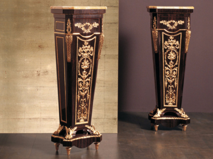 Wooden pedestal 135E | Pedestal - Rozzoni Mobili d'Arte